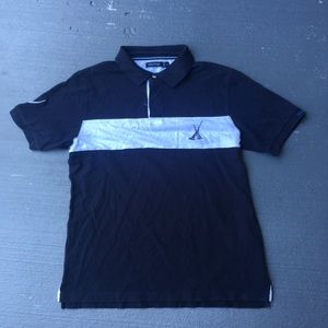 Navy blue and white Nautica polo